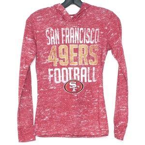 NFL Red San Francisco 49ers Football Hoodie B2